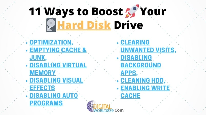11 Effective ways to Speed up your Hard Disk Drive Instantly
