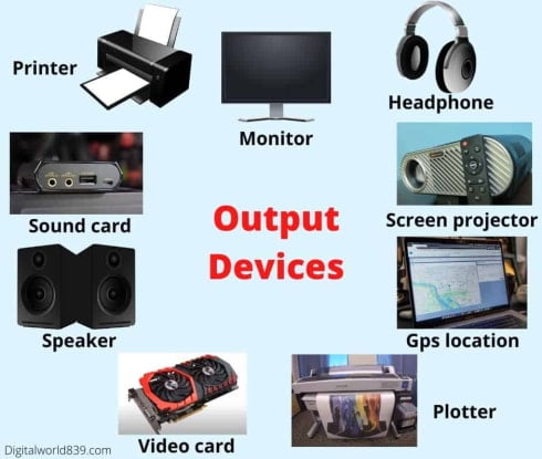 What are the Output Devices of Computer and 10 Examples
