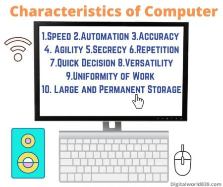 7 Characteristics of Computer | Features of Personal Computer