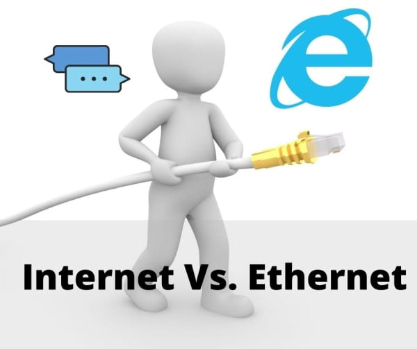 Ethernet Vs. Internet, Difference between Internet and Ethernet.