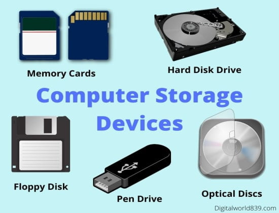 7 Types of Storage Devices In Computer