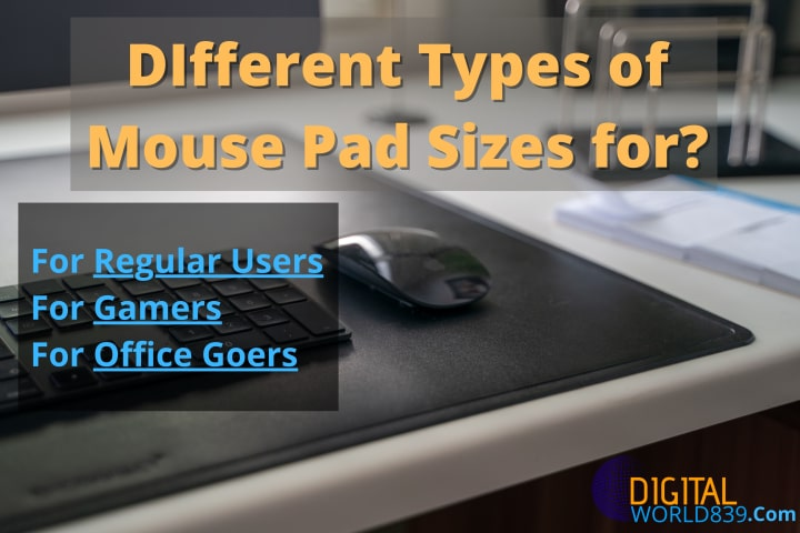 DIfferent Types of Mouse Pad Sizes