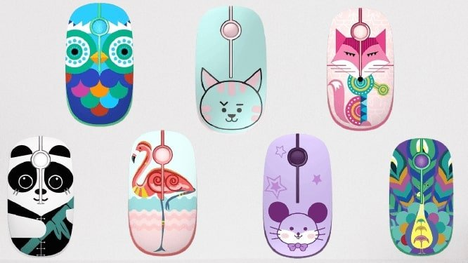 Jelly comb wireless mouse available in different patterns